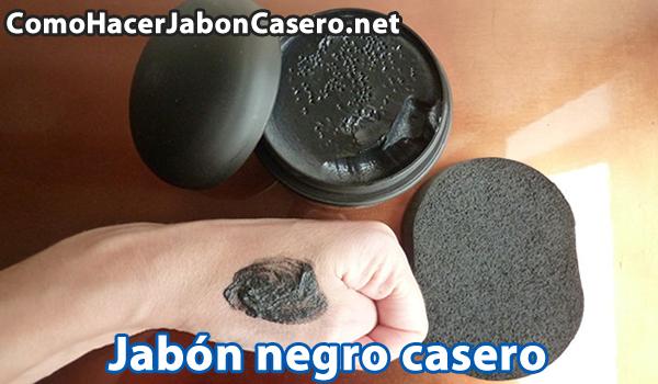 como hacer jabon negro casero