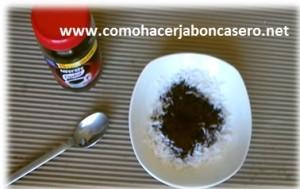 jabón casero de Cafe