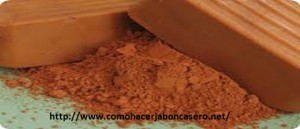 jabón casero de arcilla roja