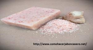 jabón casero de sal del himalaya
